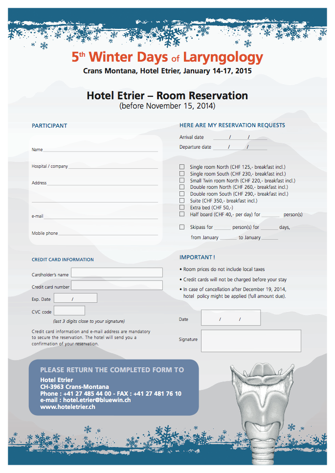 Hotel reservation for The hotel reservation